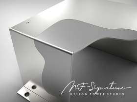 Helion pure silver and anisotropic steel complementary electromagnetic shielding