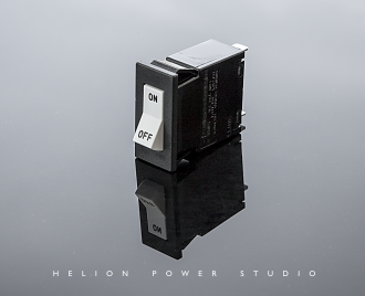 Helion custom solenoid activated, hydraulic-magnetic circuit breaker